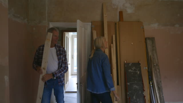 improving and renovating - couple relationship stock videos & royalty-free footage
