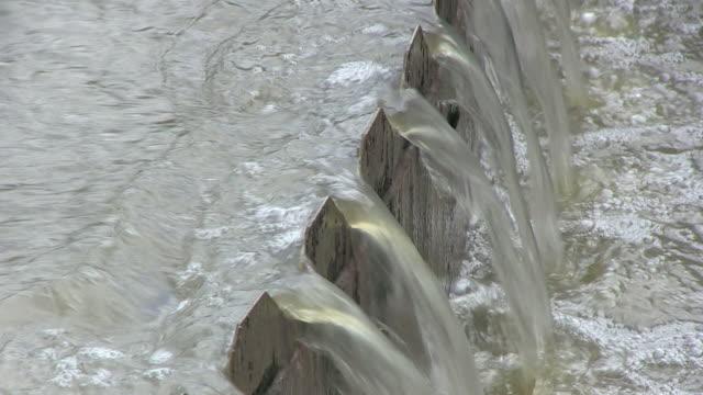 CU Impure water in clarifying basin at purification plant / Konz, Rhineland-Palatinate, Germany