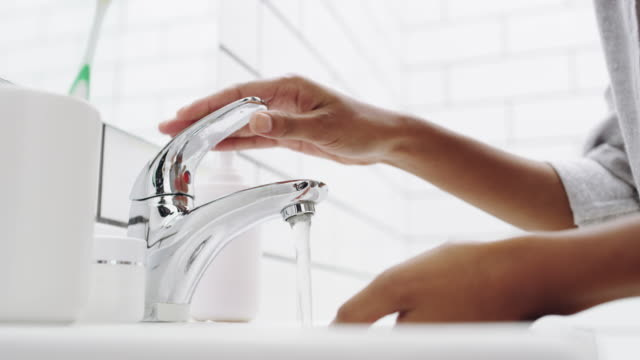 impurities down the drain - washing face stock videos & royalty-free footage
