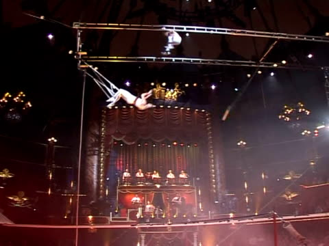 in 1859 frenchman jules l�otard presented the first ever flying trapeze show at parisõs cirque dõhiver paris paris france - circus poster stock videos & royalty-free footage