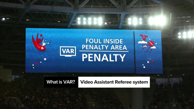 vídeos y material grabado en eventos de stock de in 2018, the world cup used var to help referees for the first time. quickly, soccer fans and casual sports fans around the world were wondering,... - var
