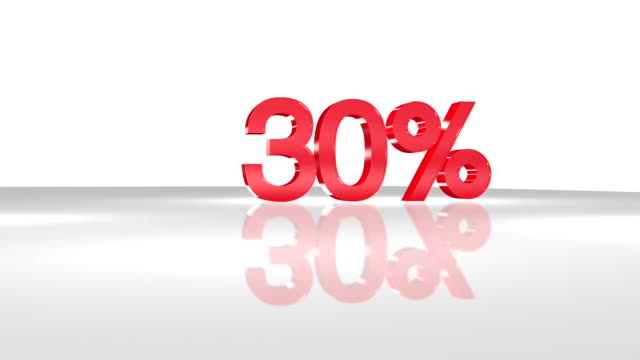 30% in 3d animation in fullhd. - sales occupation stock videos & royalty-free footage