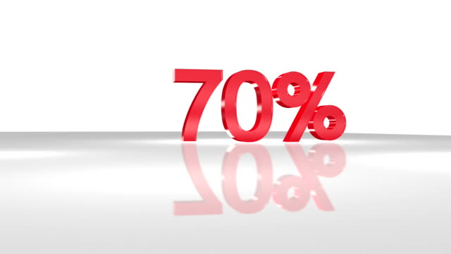 70% in fullhd 3d-animation in. - number 3 stock-videos und b-roll-filmmaterial