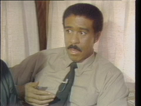 """in a 1981 interview, richard pryor says: """"the turning point was june 10. i woke up. and from there on it's just every day is great and i'm a happy... - richard pryor comedian stock videos & royalty-free footage"""