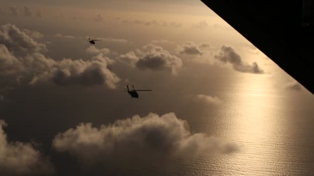 in a concerted effort throughout july 7 2017 and into the early hours of july 8 approximately 80 citizen airmen and four aircraft from the 920th... - coast guard stock videos and b-roll footage