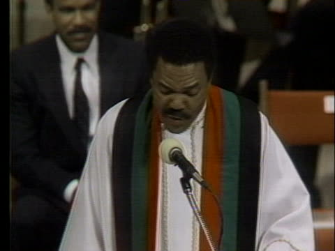 in a eulogy for mayor harold washington in chicago reverend b herbert martin states that washington knew how to talk to about and for black people - eulogy stock videos & royalty-free footage