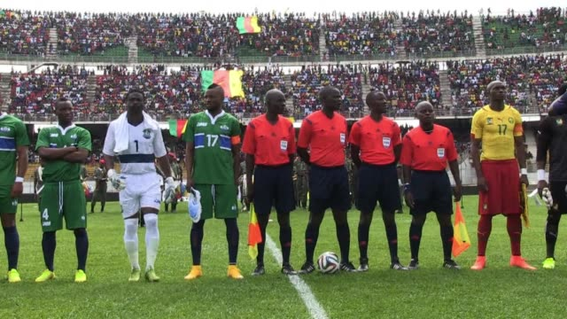 in a fixture moved from freetown because of the ebola epidemic cameroon drew 00 with sierra leone on saturday in an africa cup of nations qualifier - qualification round stock videos & royalty-free footage