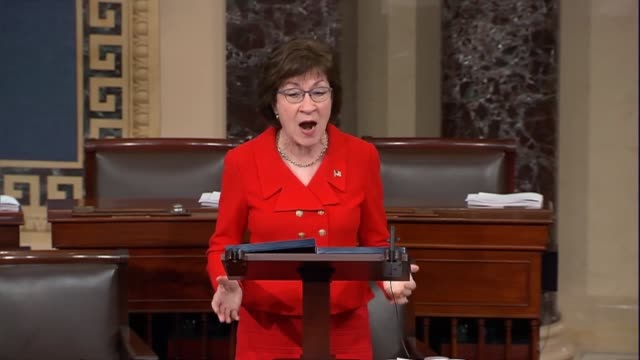 In a floor speech is supporting final passage of the tax cuts and jobs act Maine Senator Susan Collins expresses concern about the inclusion of the...
