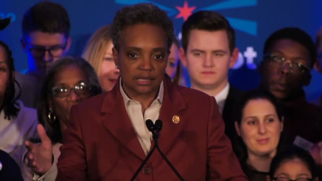 in a historic first, a gay african american woman is elected mayor of america's third largest city as chicago voters entrust a political novice with... - human gender stock videos & royalty-free footage