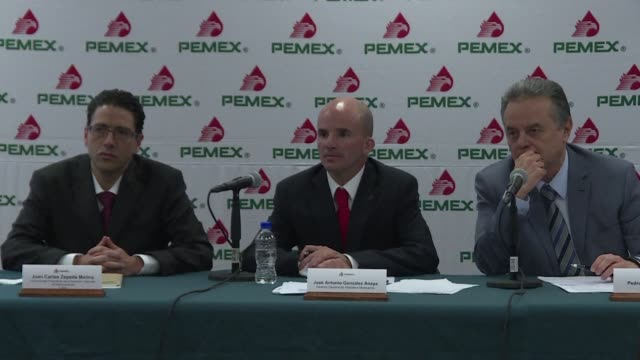vídeos y material grabado en eventos de stock de in a historic first mexico's struggling staterun pemex energy company will team up with private firms for a deepwater oil project officials said... - pemex