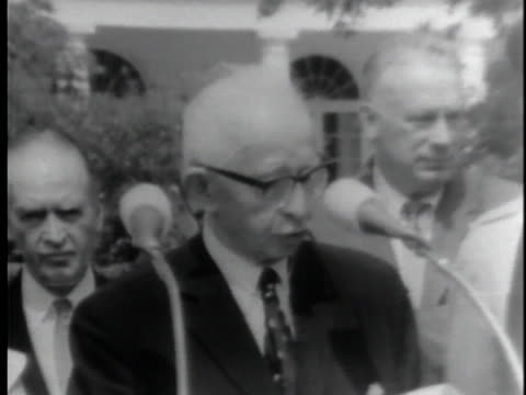 in a joint press conference given on june 22 us president lyndon johnson and turkish prime minster ismet inonu remark on their countries' mutual... - united states and (politics or government) stock videos & royalty-free footage