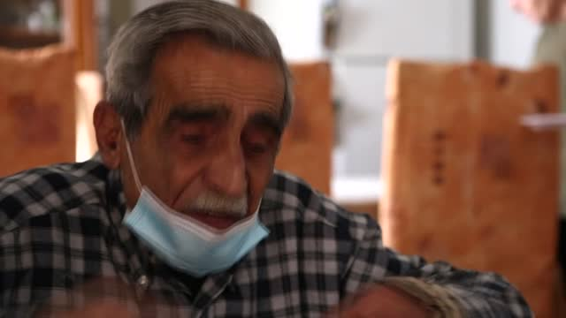 in a modest apartment in beirut, 80-year-old jean assaf worries about getting by in his final years - economy stock videos & royalty-free footage