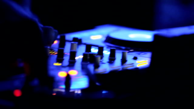 dj  in a night club - stereo stock videos & royalty-free footage