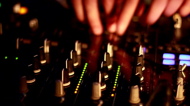 dj in a nightclub - radio controlled handset stock videos and b-roll footage