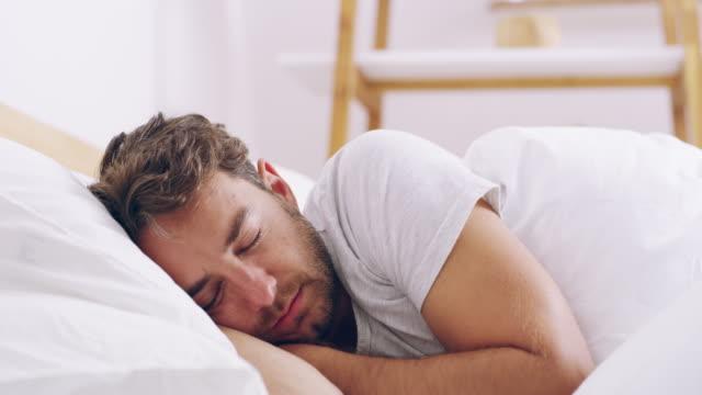 in a peaceful slumber - sleeping stock videos & royalty-free footage