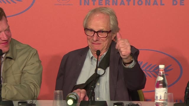FRA: Cannes: Loach gives presser on film Sorry We Missed You