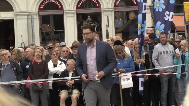 In a rally in the port city of Ystad the leader of the Sweden Democrats an far right group Jimmie Åkesson expressed his confidence a week before the...