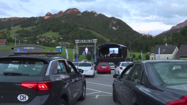 CHE: Swiss Alps alive with sound of music at drive-in festival