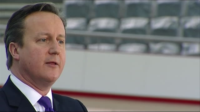 In a speech at London's Olympic Park velodrome British Prime Minister David Cameron appeals to Scotland to remain part of the United Kingdom telling...