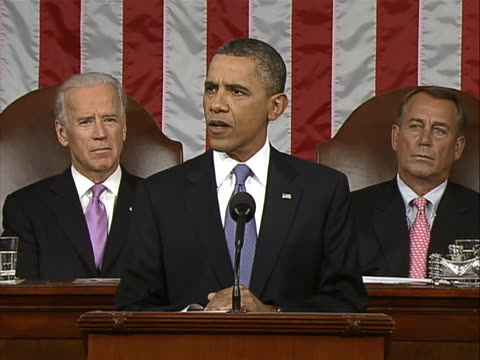"""in a speech to a joint session of congress on september 8 president barack obama announced his administration's newest proposal to """"jolt"""" the stalled... - economy class stock videos & royalty-free footage"""
