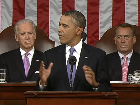"vidéos et rushes de in a speech to a joint session of congress on september 8 president barack obama announced his administration's newest proposal to ""jolt"" the stalled... - united states and (politics or government)"