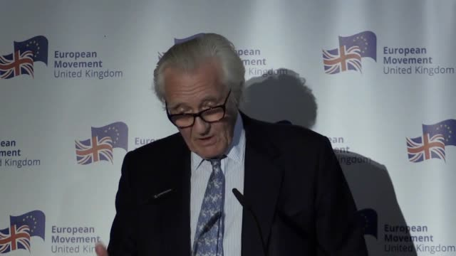in a speech to mark his appointment as the president of the proeu pressure group european movement former deputy prime minister lord heseltine says... - staatsdienst stock-videos und b-roll-filmmaterial