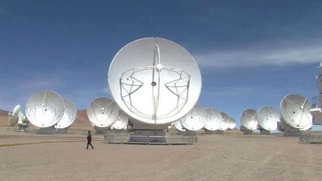 in a super arid desert at an altitude of 5000 meters with almost no humidity or vegetation the worlds largest ground based astronomy project opens... - antofagasta region stock videos and b-roll footage