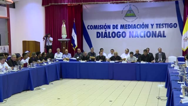 in a surprise announcement nicaragua's influential catholic bishops says rival government and civil delegates have agreed to create a verification... - verification stock videos & royalty-free footage