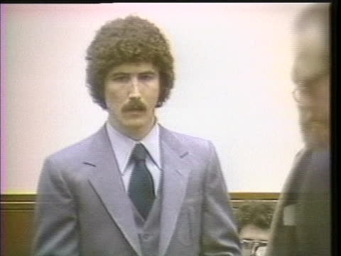 in a washington courtroom, kennethêbianchiêattempts to avoid a death sentence by confessing to twoêbellinghamêmurders, as well as his participation... - throttle stock videos & royalty-free footage