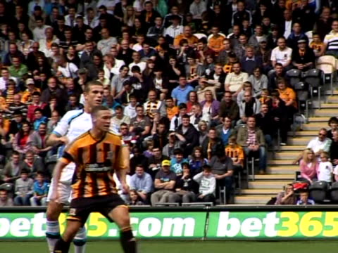 in action against hull city during a pre-season friendly in july 2011 liverpool midfielder jordan henderson at anfield on september 20, 2011 in... - hull stock videos & royalty-free footage