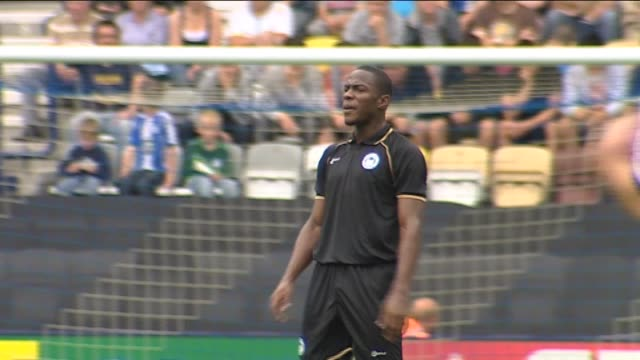 in action for wigan athletic during a pre-season friendly against preston north end in july 2011 left back maynor figueroa at deepdale on september... - lancashire stock videos & royalty-free footage