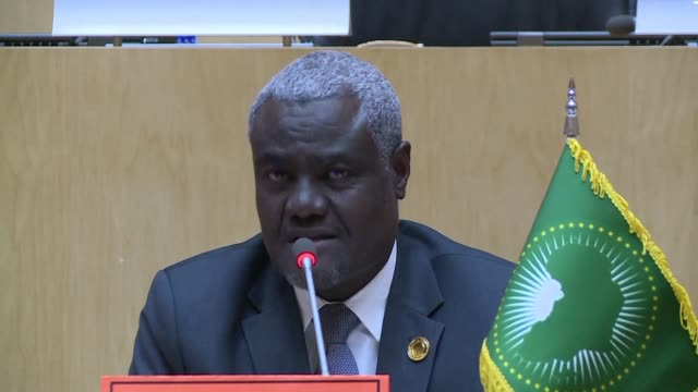 in addis ababa as the 32nd african union summit closes the chairperson of the african union commission speaks of the challenges facing the african... - chairperson stock videos & royalty-free footage