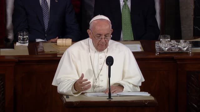 In an address to a Joint Meeting of Congress Pope Francis offers a critique of global arms trade urges nations to resume what he calls the path of...