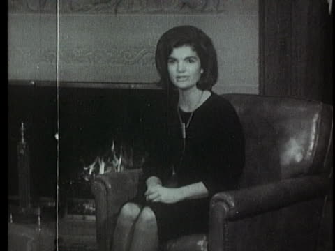in an address to the nation, jacqueline kennedy thanks the nation for letters of support she received after the assassination of her husband,... - jackie kennedy stock videos & royalty-free footage