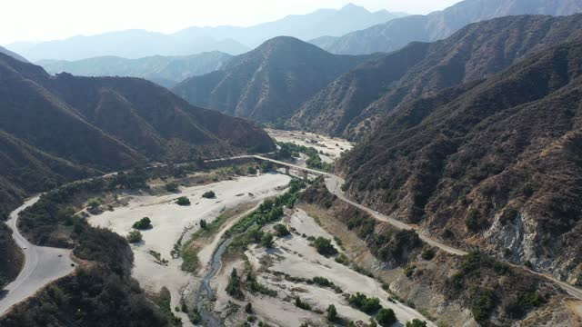 in an aerial view, the san gabriel river is seen on june 29, 2021 in the san gabriel mountains near azusa, california. the san gabriel reservoir is... - 4k resolution stock videos & royalty-free footage