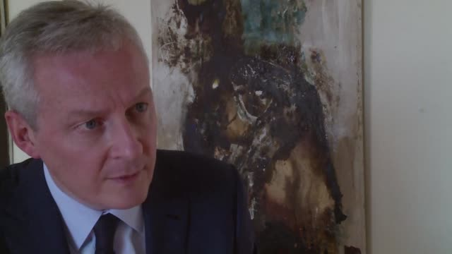 In an AFPTV interview in Argentina French Finance Minister Bruno Le Maire calls on the United States to see sense in light of US President Donald...