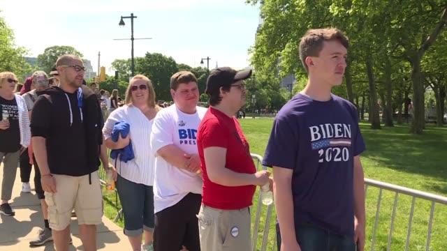 PA: Supporters rally in Philadelphia for Joe Biden's presidential kickoff rally