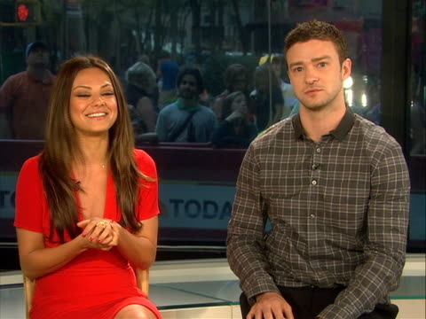 in an interview actor justin timberlake and actress mila kunis speak about their new movie òfriends with benefits.ó the two also speak about being... - justin timberlake stock videos & royalty-free footage