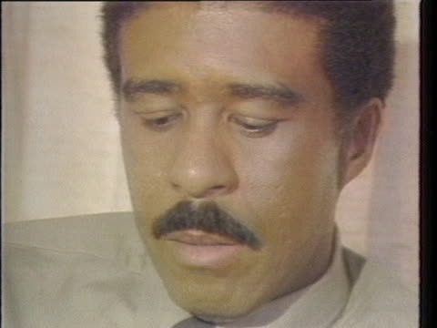 """in an interview, richard pryor says: """"there's all types of ways to make people laugh. pie in the face, and there's wit, and being sarcastic. there's... - richard pryor comedian stock videos & royalty-free footage"""
