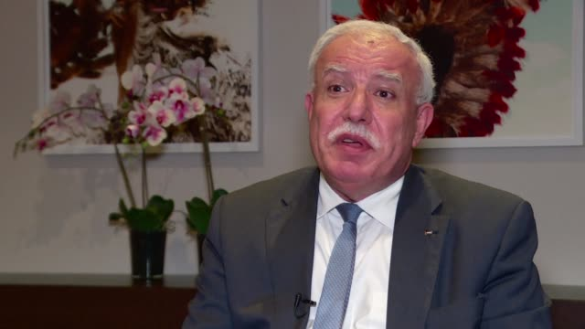 In an interview with AFP Palestinian Foreign Minister Riad alMalki says Mahmud Abbas will reiterate his commitment to the peace process in the Middle...