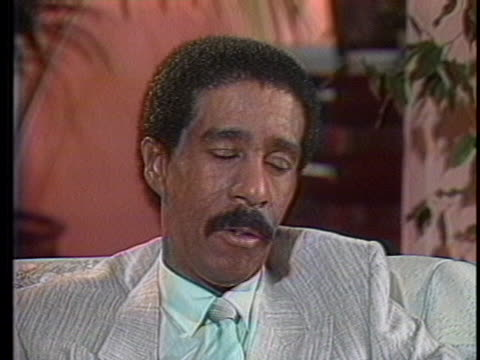 in an interview with bryant gumbel, richard pryor talks about his refusal to drink or do drugs. - richard pryor comedian stock videos & royalty-free footage