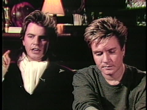 in an interview with his bandmates, duran duran bassist john taylor says that the growing popularity of music video helped the band gain success. - duran duran stock videos & royalty-free footage