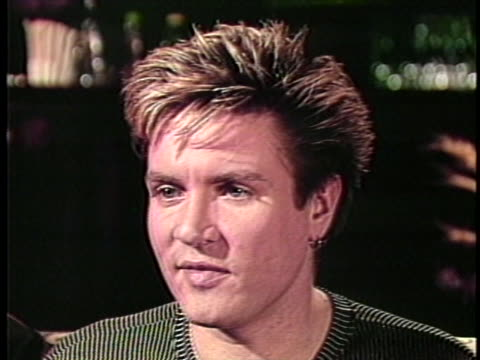 in an interview with his fellow duran duran bandmates, singer simon lebon says the group has always been accused of placing more importance on music,... - duran duran stock videos & royalty-free footage