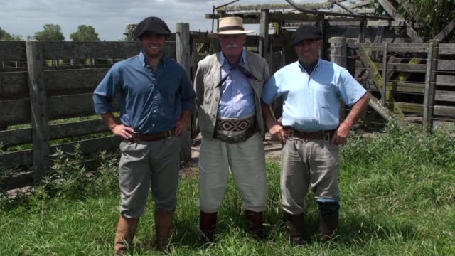 in argentina the traditional gaucho lifestyle is dying out but their traditional trousers known as bombachas are enjoying a new lease of life clean... - lease agreement stock videos and b-roll footage