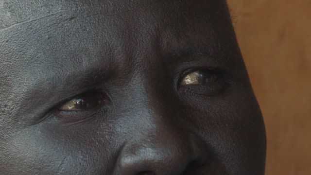 vídeos de stock e filmes b-roll de in aweil the capital of north bahr elghazal on the border between north and south sudan traders are celebrating cutting the umbilical cord to... - female reproductive system