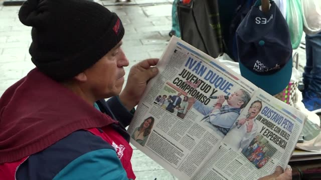 In Bogota Colombians were unsurprised by the results of the first round of the presidential election with right wing candidate Ivan Duque and left...