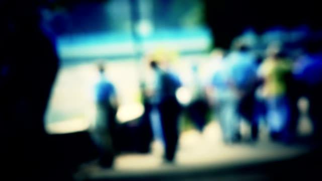 In camera blurred people