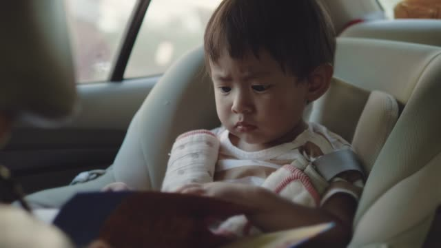 In car safety for children.
