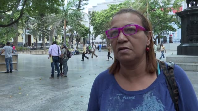 in caracas venezuelans expressed mixed feelings on us president donald trump speech the evening before in which he urged venezuela's military to... - donald trump us president stock videos and b-roll footage