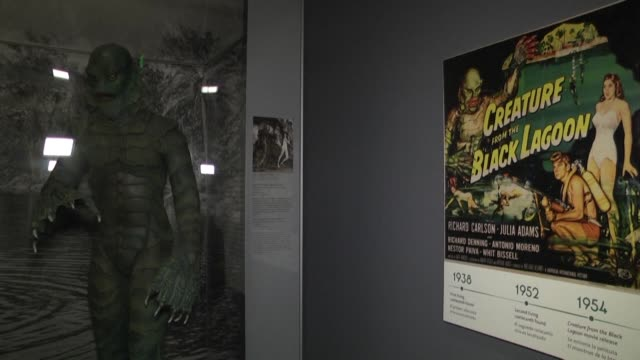 vídeos y material grabado en eventos de stock de in collaboration with universal studios the los angeles museum of natural history is launching an exhibition entitled the natural history of horror... - montaje documental